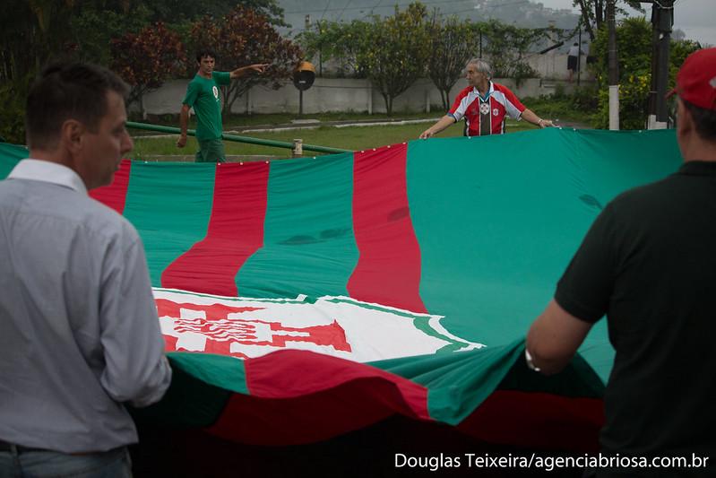 Hasteamento da bandeira da Portuguesa Santista
