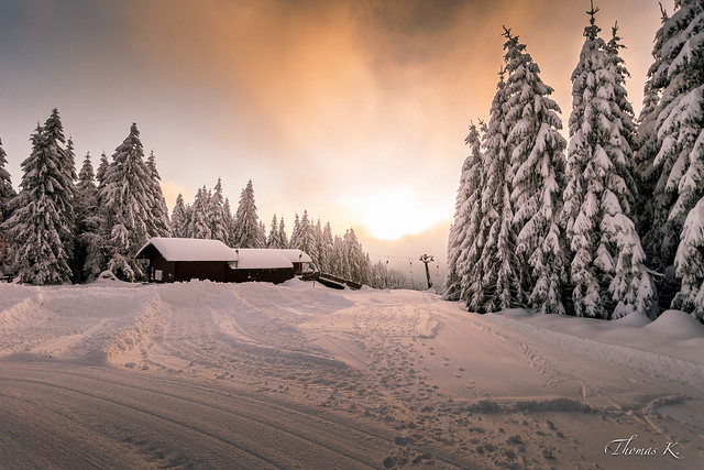 Les premières neiges sur la Forêt-Noire