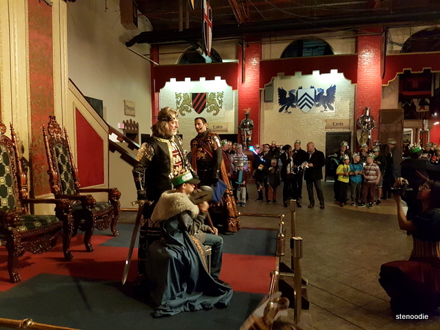 Medieval Times Dinner & Tournament knighting ceremony