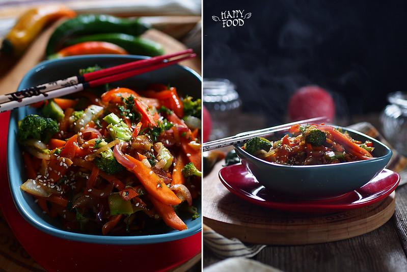 Стир-фрай овощи - phad phak ruam-mid