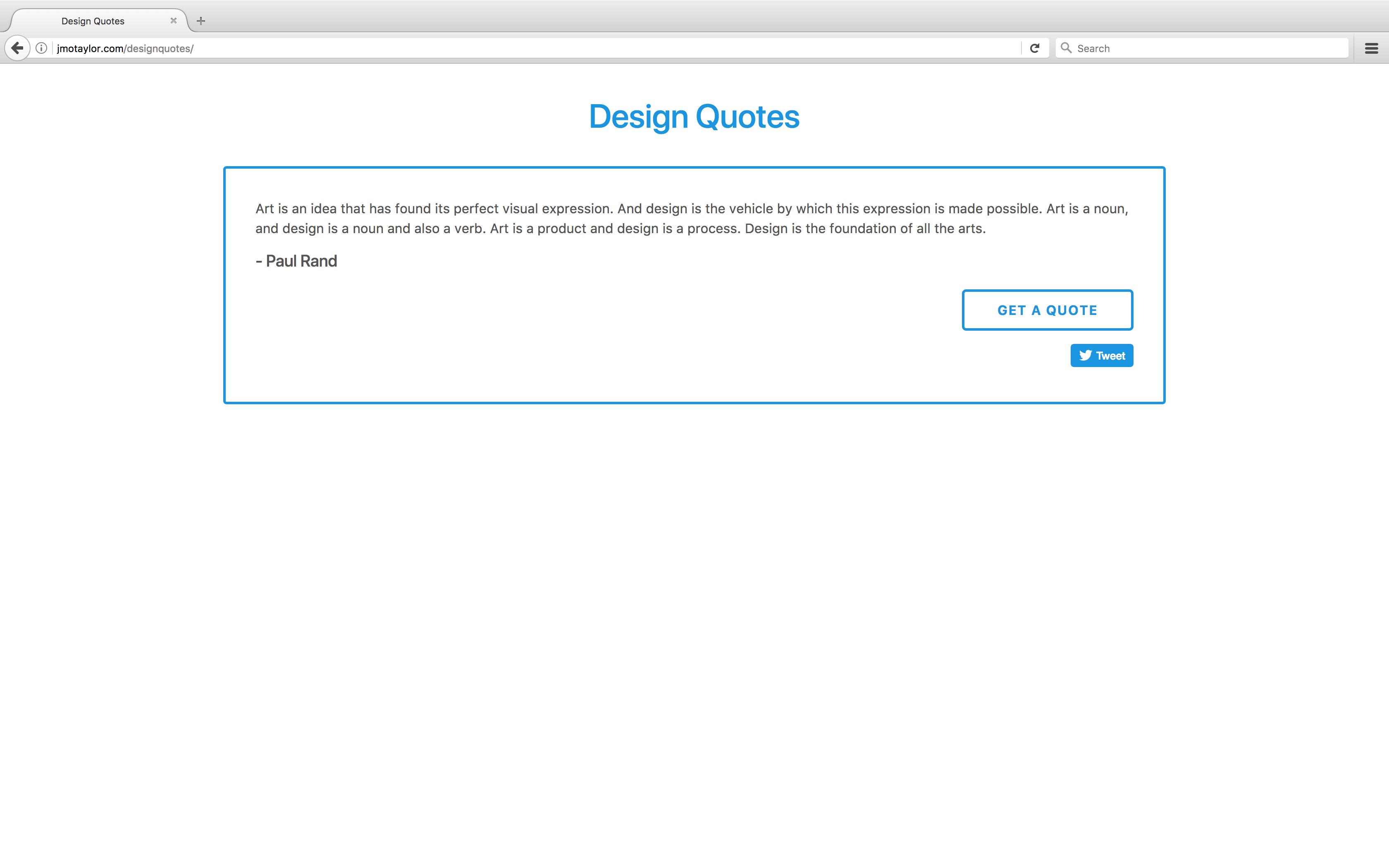 Design Quotes website picture