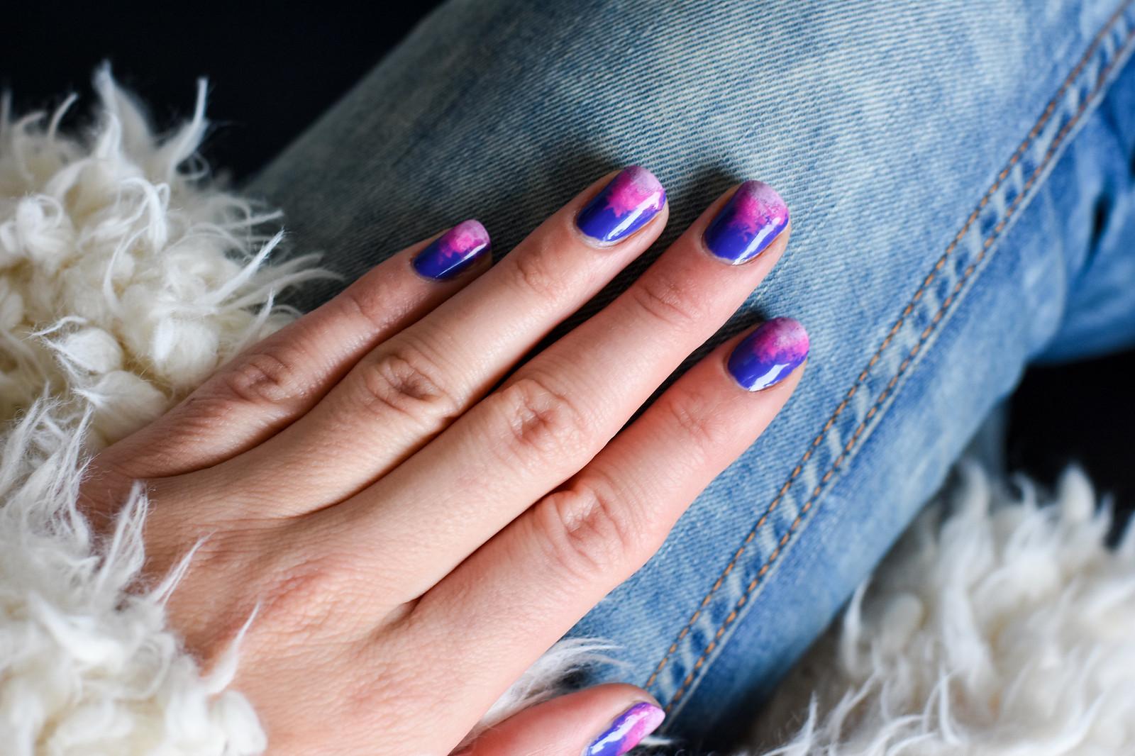 Galaxy inspired manicure