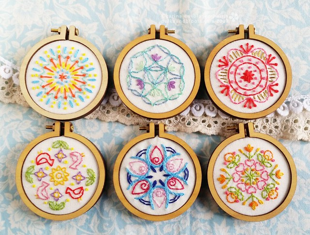 six mini mandalas