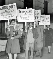 Picket for fair employment practices (2): 1946