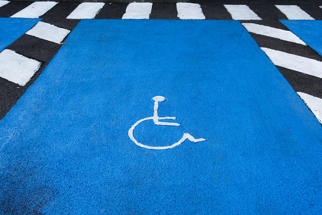 Parking for disabled people