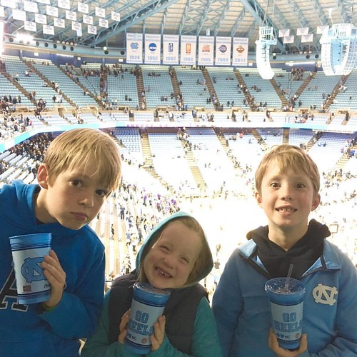 Having fun at the season opener. #goheels
