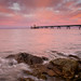 Clevedon Pier in the pink