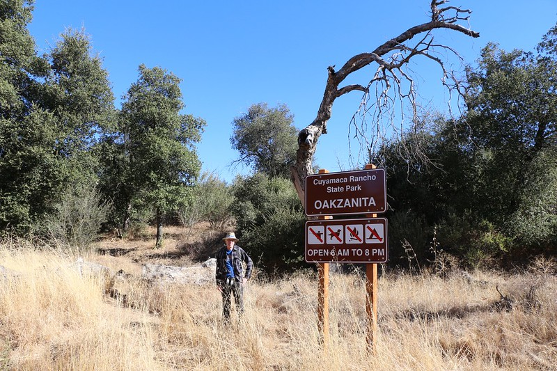 Oakzanita Trailhead in Cuyamaca Rancho State Park and the start of the Lower Descanso Creek Trail