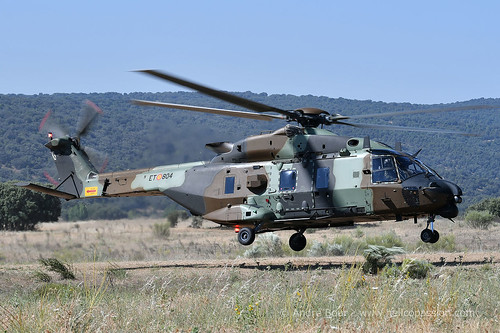 Spanish Army NH90 helicopter, at Colmenar Viejo 2017