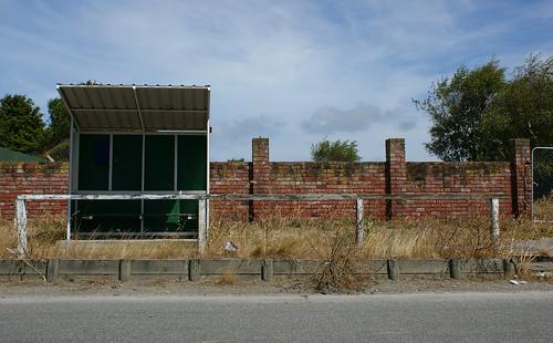 Brooklands: bus stop (2)