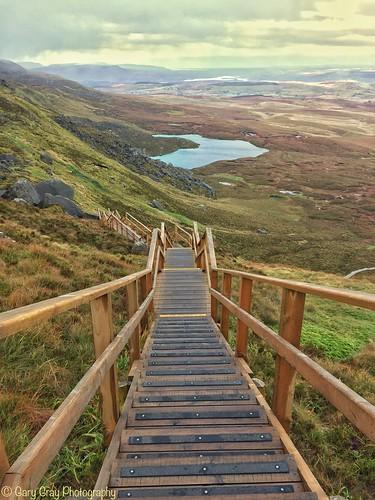 fermanagh boardwalk cuilcagh stairway