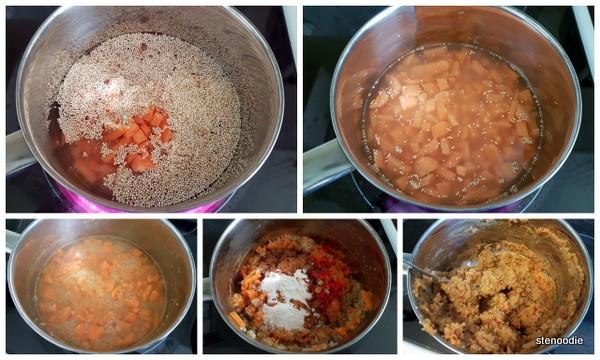 sweet potato quinoa mash