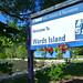 7. Cartel de bienvenida a la isla de Ward's Island