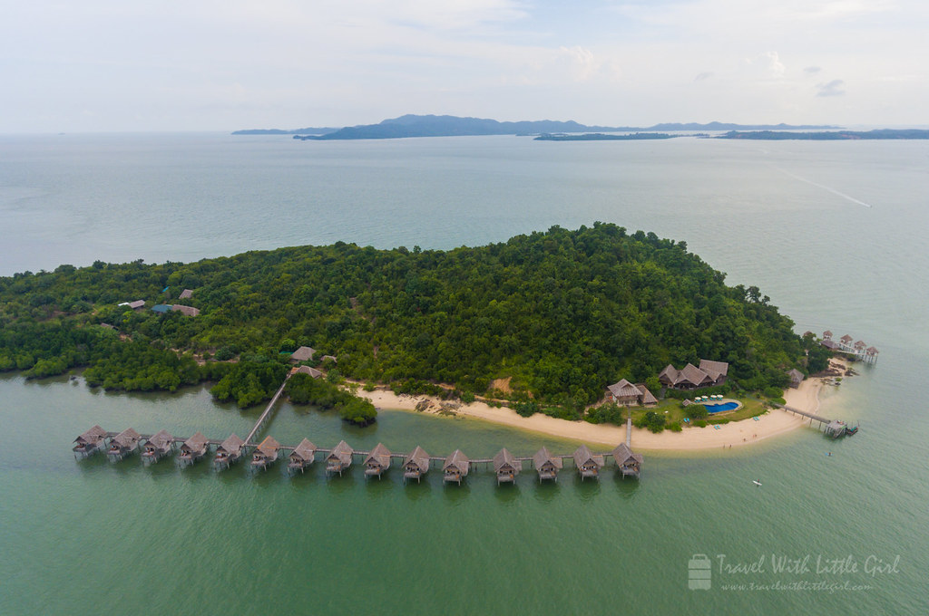 Telunas Private Island and its 15 private premium huts