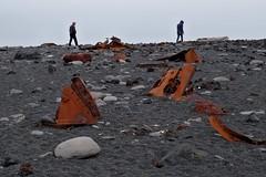 Следы кораблекрушения 1948 г. Снайфедльснес, Исландия