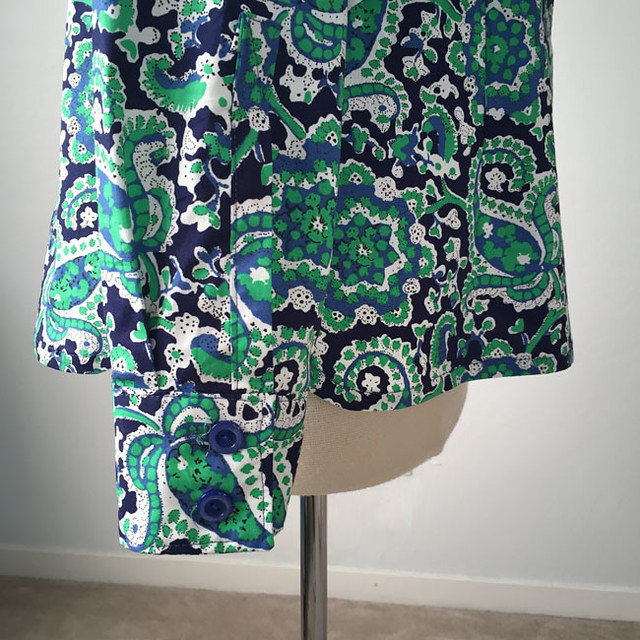 green paisley shirt cuff
