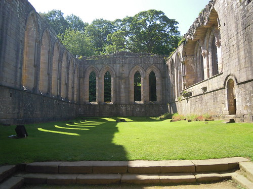 Fountains Abbey. From Studying Abroad in London: A Step Back in Time in Northern England