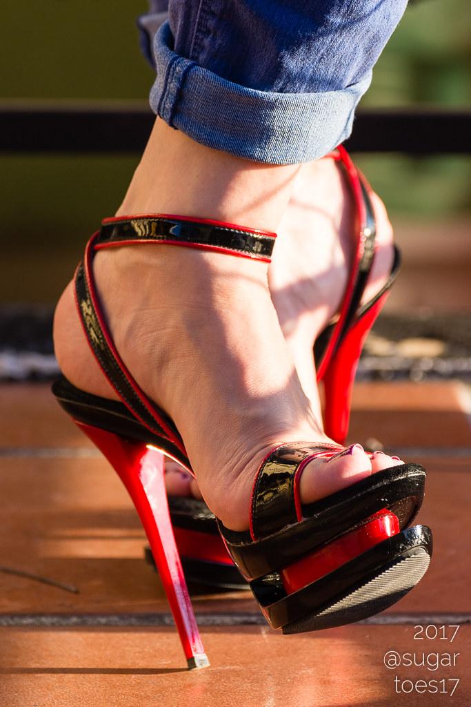Ebony in heels