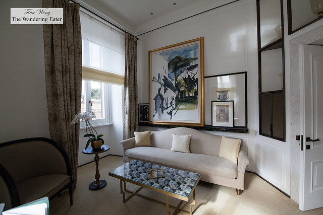 Living room area of Villa Malta Suite