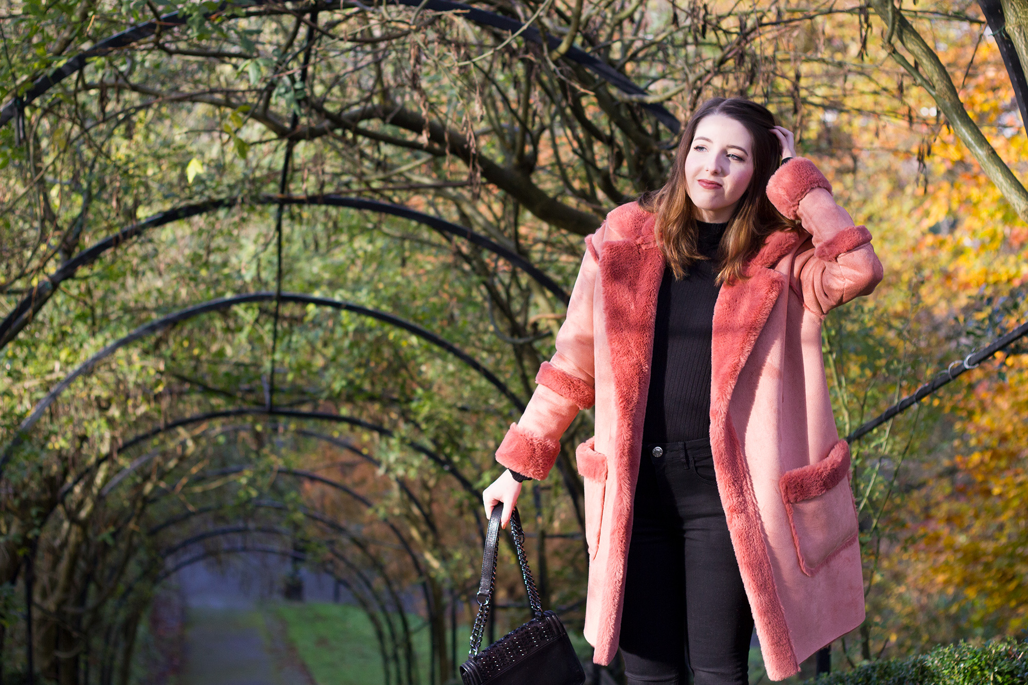 River-Island-Faux-Pink-Shearling-Coat