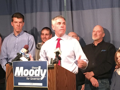 Body shop chain owner Shawn Moody announces a run for the Republican gubernatorial nomination.