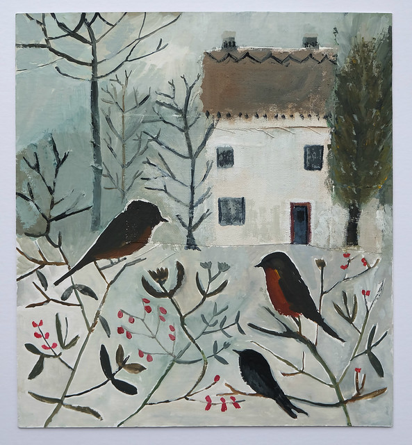 rosehip cottage in winter