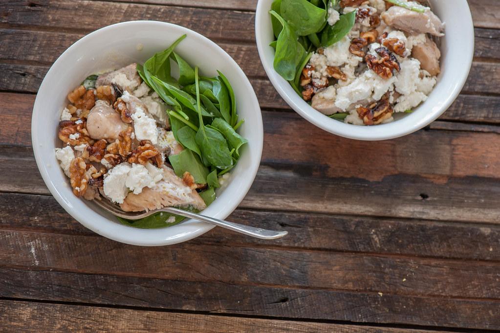 Roast Chicken, Walnut & Feta Bowls_