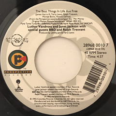 LUTHER VANDROSS AND JANET JACKSON:THE BEST THINGS IN LIFE ARE FREE(LABEL SIDE-A)