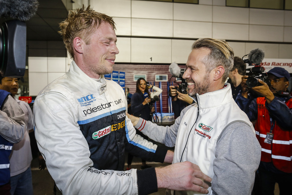 BJORK Thed, (swe), Volvo S60 Polestar team Polestar Cyan Racing, ambiance portrait MONTEIRO Tiago, (prt), Honda Civic team Castrol Honda WTC, ambiance portrait during the 2017 FIA WTCC World Touring Car Championship race at Losail  from November 29 to december 01, Qatar - Photo Francois Flamand / DPPI