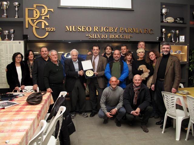 """Mario Percudani """"Una vita per la Rugby Parma """" (Foto Cortesi)"""