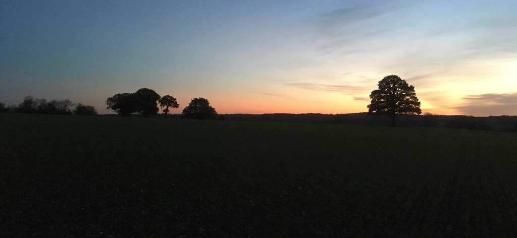 Winter sunset, Chesham Chorleywood to Chesham walk