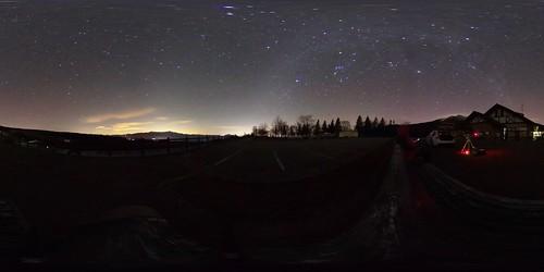 Near Yatsugatake Mountains 360-Degree View at Night November 2017