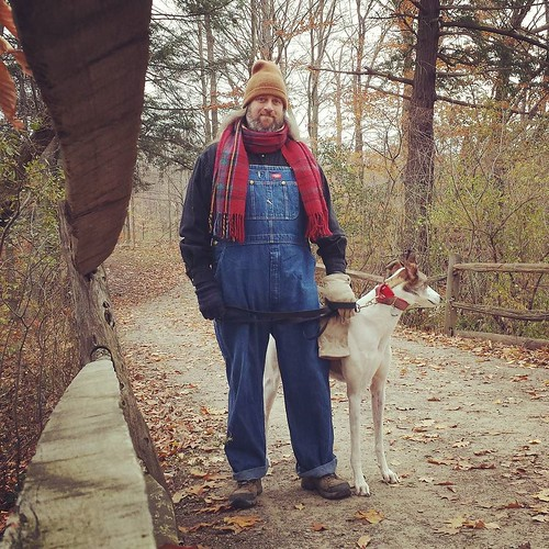 The Dee-oh-gee and me #Cane #DogsOfInstagram #greyhound #KnoxFarm #EastAurora #wny #autumn #overalls #dickiesworkwear #bluedenim #dungarees #denim #doubledenim