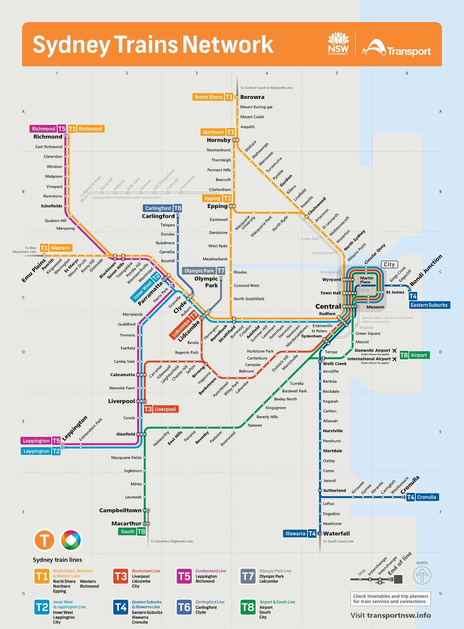 Sydney Trains Network Map