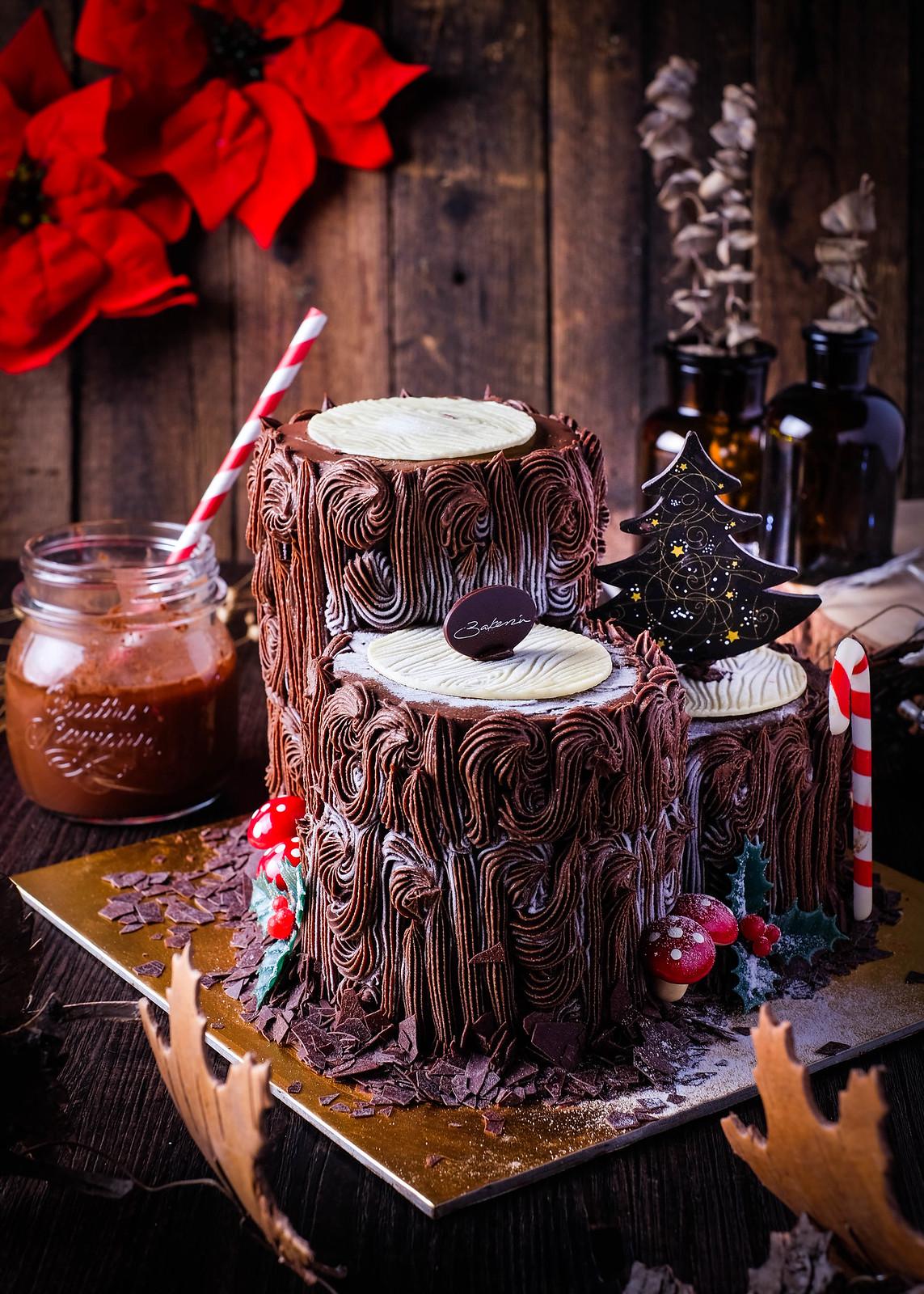 Christmas Log Cakes: Bakerzin