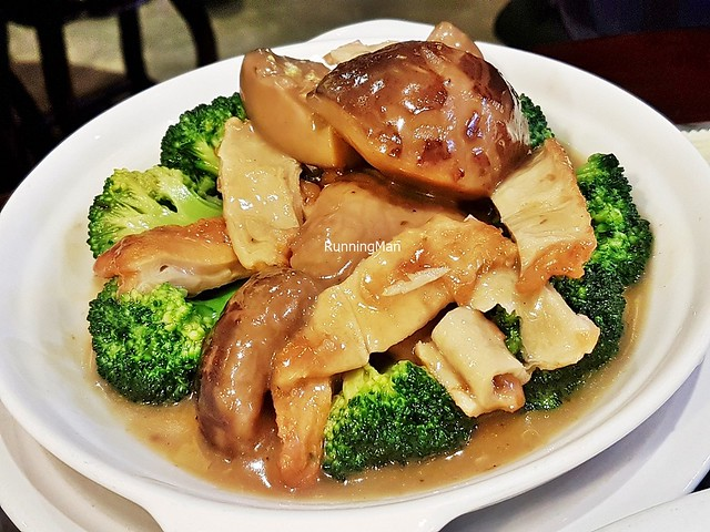 Broccoli With Thick Mushroom & Beancurd Skin