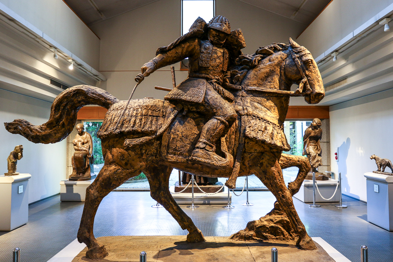 Horseman sculpture