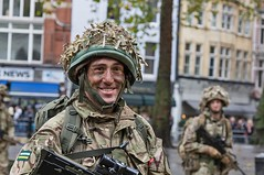Royal Marines Commando, Lord Mayor's Show, London, 11 Nov 2017