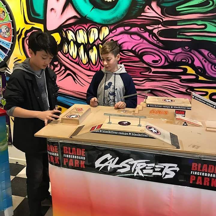 Fingerboarders practicing for our Nov 25 Fingerjam.