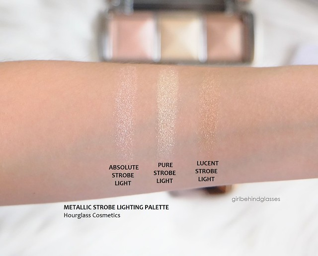 Hourglass Metallic Strobe Lighting Palette swatches