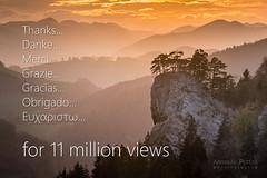 Thanks for 11mio views