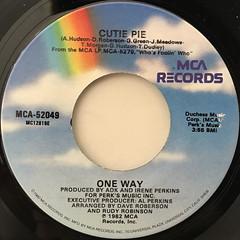 ONE WAY:CUTIE PIE(LABEL SIDE-A)