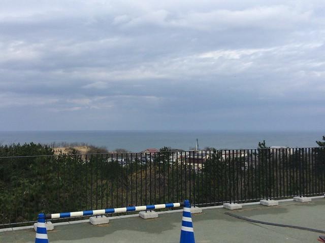 到着した場所から見た日本海
