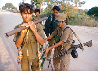 Cambodian Government, CPP, not United Nations, soldiers out on patrol.
