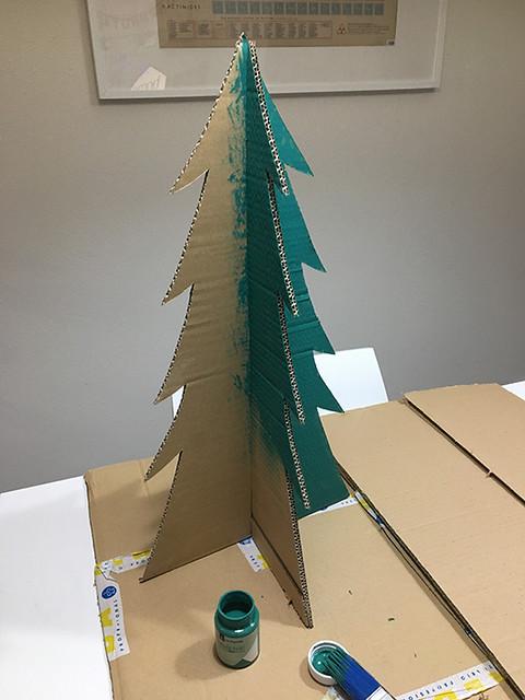 12 Calendario adviento árbol cartón handmade