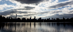 A silhouetted skyline