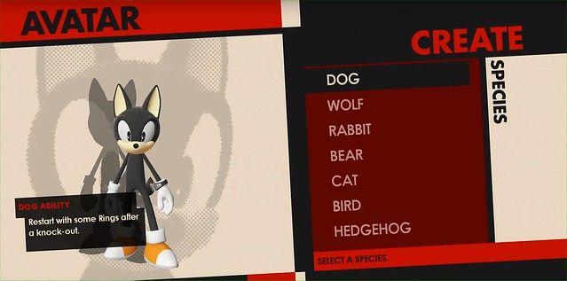 Sonic Forces - Character Creation
