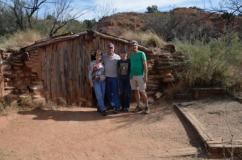 Palo Duro Ruth and Larry and Linda and Pierre dugout