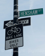 HENSHAW ST Street Sign, Inwood, New York City