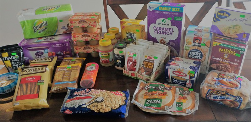 Some of recent Grocery outlet finds...including Organic brownie mix and a case of Greek yogurt!